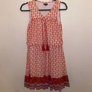Rd and White Lily Rose Dress